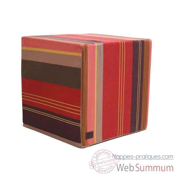 Idees cadeaux nappe pratique nappe interieur nappe exterieur - Housse pour pouf carre ...