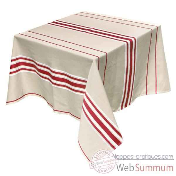 Video Nappe carree Artiga Corda Metis Bordeaux 165 x 165