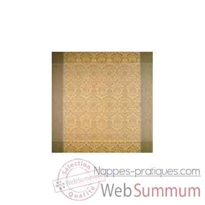 Nappe carre St Roch Palatine Or et lin -15