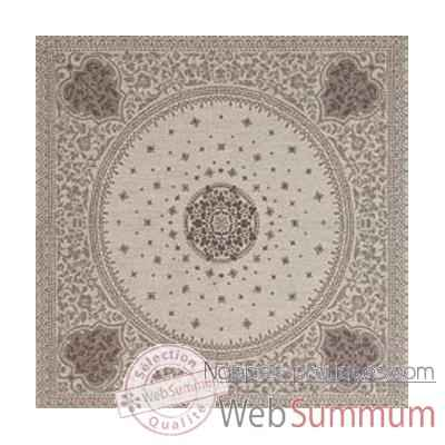 Nappe carree St Roch Tsarine argent pur coton -19