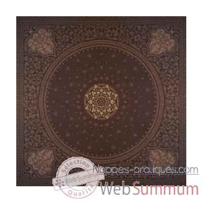 Nappe carree St Roch Tsarine chocolat pur coton -31