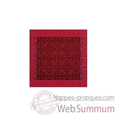 Video Nappe St Roch rectangulaire Vendangine bordeaux et framboise -61