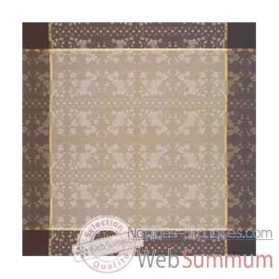 Video Nappe St Roch rectangulaire Vendangine taupe et beige -11