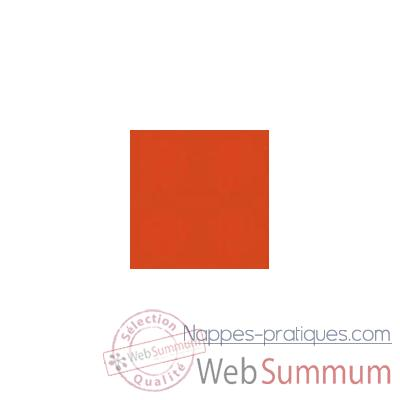 Nappe rectangulaire St Roch Quadrille orange 160x200 -33