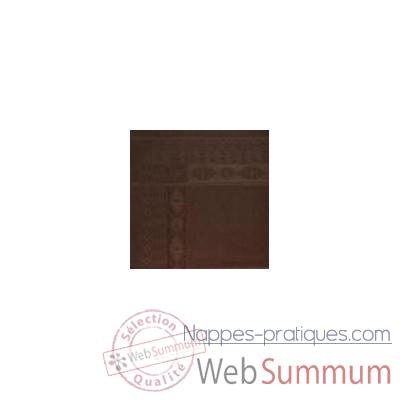Video Nappe St Roch rectangulaire Salomee Chocolat -35