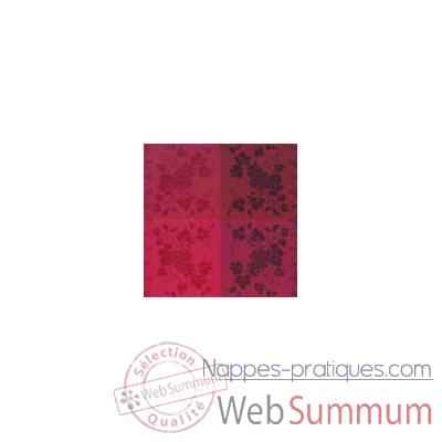 Video Nappe rectangulaire St Roch Vendangival rubis coton enduit 160x200 -55