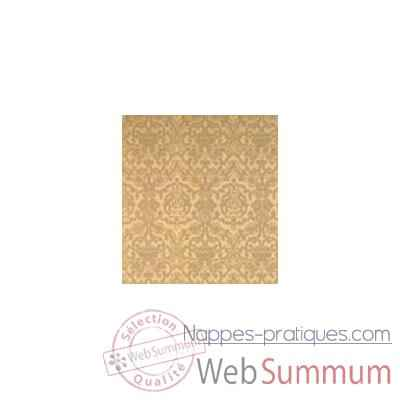 Nappe carree St Roch Medicis or et lin 180x180 -15