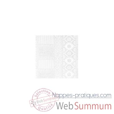 Nappe St Roch rectangulaire Byzance blanc 210x300 -00