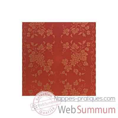 Video Nappe St Roch rectangulaire Vendange tomate pur coton 210x300 -51