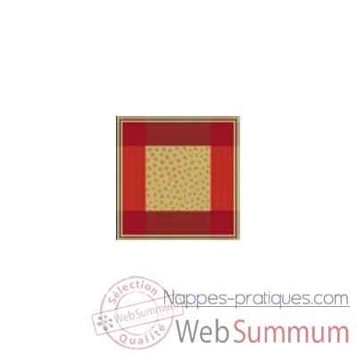 Serviette St Roch Sonate Rouge -59