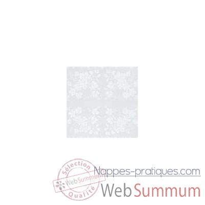 Video Serviette St Roch Vendange blanc pur coton -00