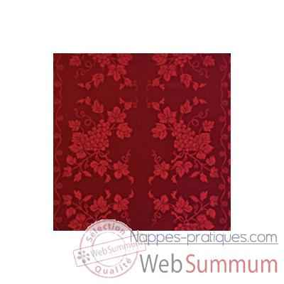 Video Serviette St Roch Vendange bordeaux pur coton -61